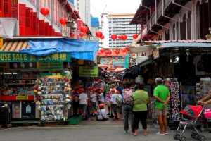 The market stalls in Chinatown - organised chaos - can get a bit busy so I suggest morning or afternoon to avoid the hordes.