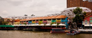 With Restaurants and Bars wrapping their way around the river, Clarke Quay really is the place to check out of an evening