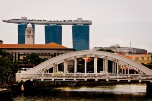 Clarke Quay and Marina Bay