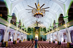 The impressive prayer hall of Sultan Mosque.  Fantastic place to learn a little more about Islam