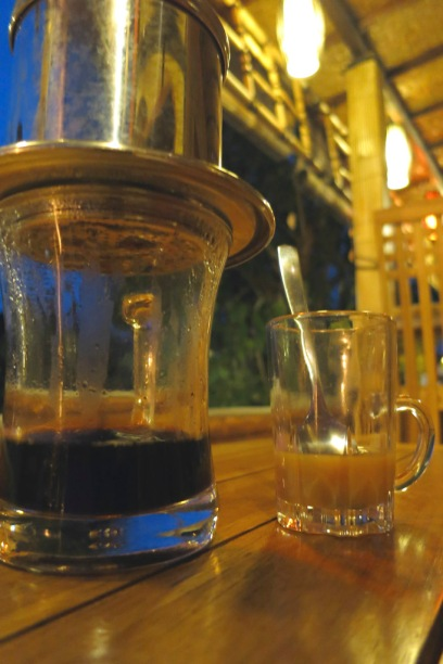 Vietnamese Drip Coffee - served with a Caramel Condensed Milk.