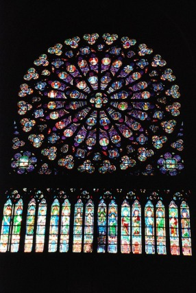 The South Rose Window - the detail in this window piece is incredible.  As is also the sheer size.