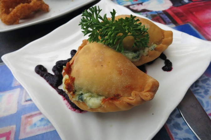 Empanadas Rebeldes - Rp. 12k each - Pastry Crescents filled with: fresh spinach sautéed with onions, cheddar cheese and jalapenos