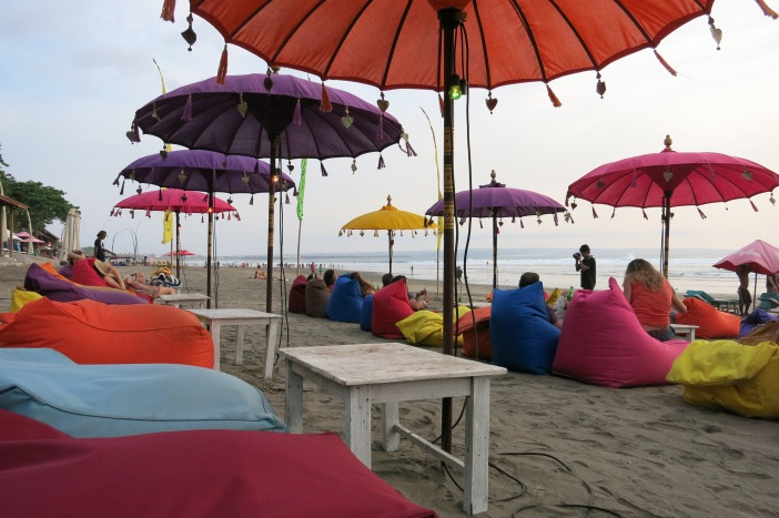 The beach area around Jalan Double Six is full of beach bars, each afternoon the beanbags come out and you can relax while watching the sunset.