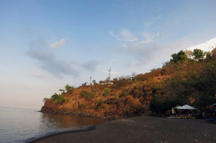 The view back to the Jemeluk headland, if you are feeling energetic you can wander up the road and you will be treated to a glorious view of the sun setting behind the magical Mt. Agung.