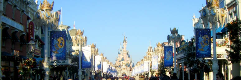 That timeless classic Disney Image - Main Street USA - welcomes visitors to Disneyland Paris