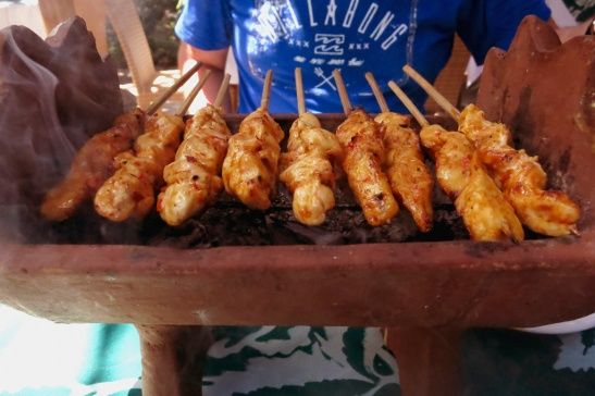 Chicken Satay - I always loved when it is served over charcoal at the table, keeps them so warm.