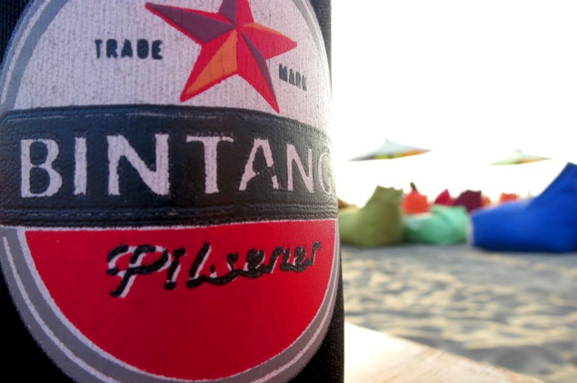 Insert Cliché Photo of Bintang on the beach.  Sorry had to do it (and it probably wont be the last)