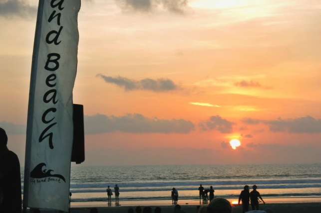 Sand Beach Bar on Jl. Double Six, Legian - Not a bad place to watch the sunset.