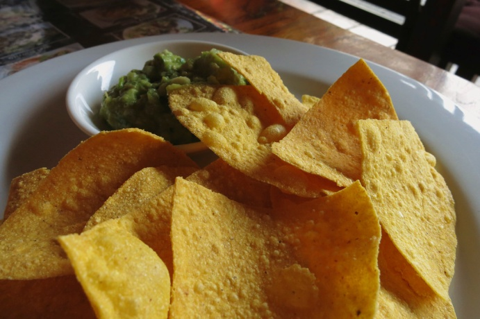 Started with the Corn Chips and Gaucamole