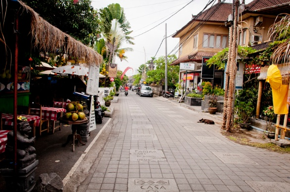 The lovely Jalan Bisma - just one street back from the mayhem and traffic of Monkey Forest Road.