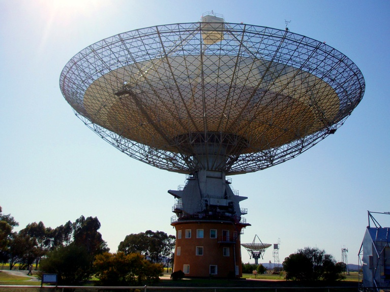 Deep Space - it doesn't get much deeper than the Parkes Radio Telescope.