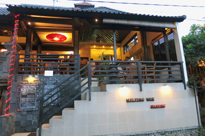 Located on Jl. Gootama which runs parallel to Jl. Hanoman.  A small little restaurant so if you want to eat at a popular time do make a reservation.