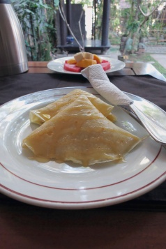 Breakfast at Gerhana Sari - Pancakes.