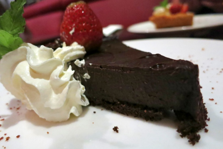 Despite the huge meals we amazingly had room for dessert - Chocolate Tart