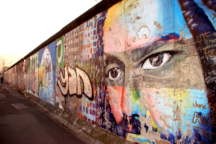 The East Side Gallery in Berlin.  A ever-present monument to the Fall of the Berlin Wall.