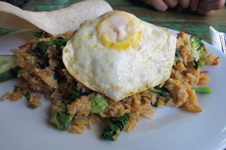 Nasi Goreng Ayam - well prepared - good with a distinctive flavour to the rice.